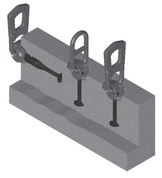 3D T-slot Anchor Lifting System