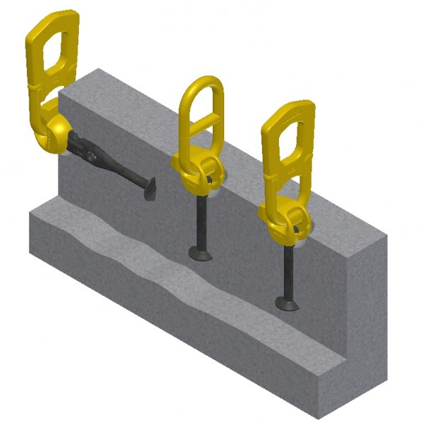 3D T-slot Anchor Lifting System