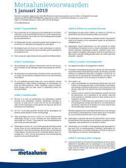 Metaalunie Terms and Conditions 2019 - Dutch frontpage.jpg