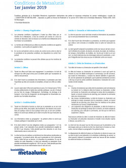 Metaalunie Terms and Conditions 2019 - French frontpage.jpg