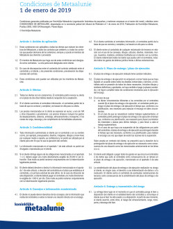 Metaalunie Terms and Conditions 2019 - Spanish frontpage.jpg