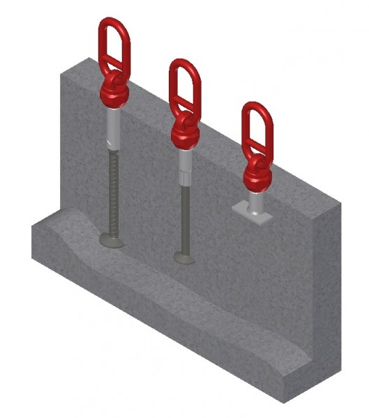 1D Threaded Anchor Lifting System Heavy Duty