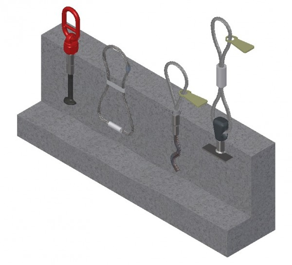 1D Threaded anchor Lifting Systems